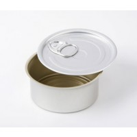 Round Aluminium Tin with Lid
